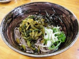 松本市 ドライブイン たきざわ お蕎麦 食事 わさびそば