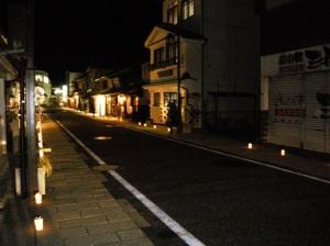 松本市 キャンドルナイト 中町通り 夜桜